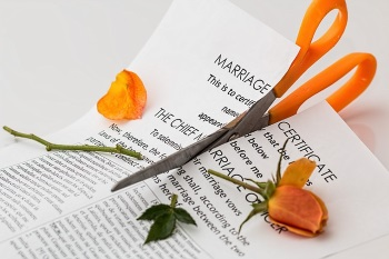 How to Serve Divorce Papers Represented by Marriage Certificate Being Cut in Half