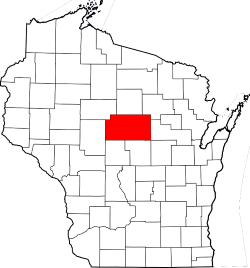 Map of Wisconsin Highlighting Marathon County