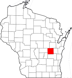 Map of Wisconsin Highlighting Winnebago County