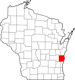 Map of Wisconsin Highlighting Sheboygan County