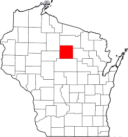 Wisconsin Process Server Map Highlighting Lincoln County