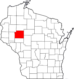 Chippewa County Highlighted in Map of Wisconsin