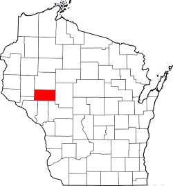 Eau Claire County Highlighted in Wisconsin Map
