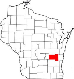 Map of Wisconsin with Fond du Lac County Highlighted where Process Serving Company Works