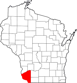 Grant County Wisconsin Marked on Process Serving Company Map
